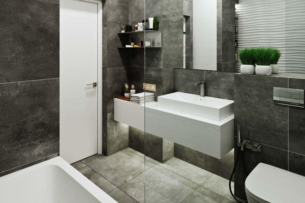 Teyo Diseños: baño en tonos grises