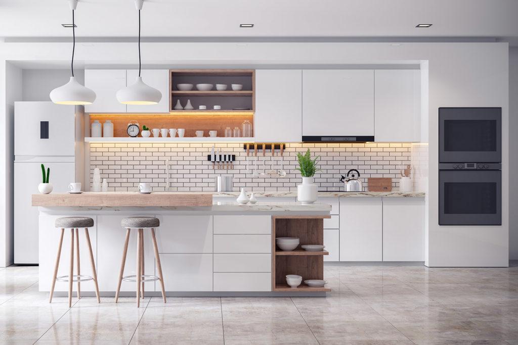 Teyo Diseños: cocina de lujo blanca