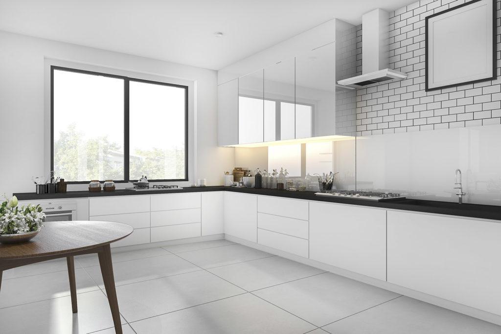 Teyo Diseños: cocina minimalista blanca