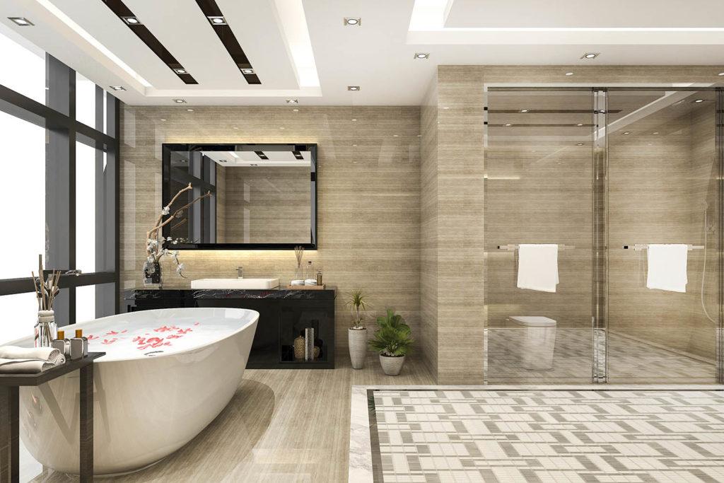 Teyo Diseños: baño beige y negro
