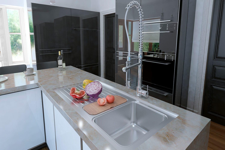 Teyo Diseños: grifo cocina moderna de lujo